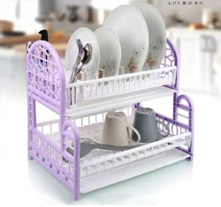 Dish Drainer With Plates Rack Glass Holder Drip Tray