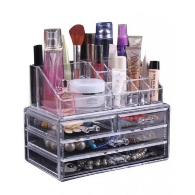 acrylic jewelry amp makeup box transparent online
