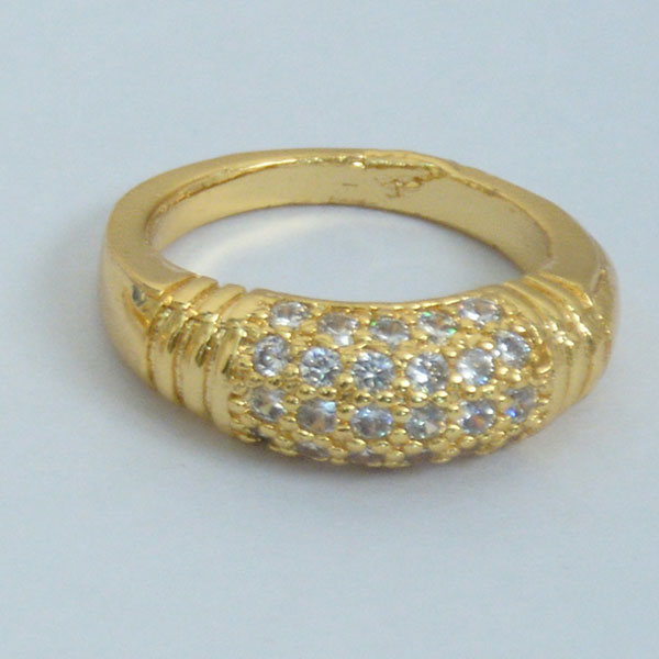 Challa Diamond Gold Plated Ring