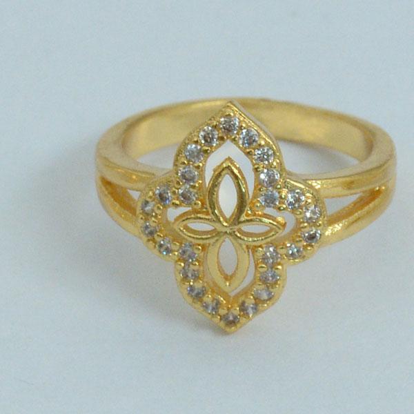 Elegant Diamond Gold Plated Ring