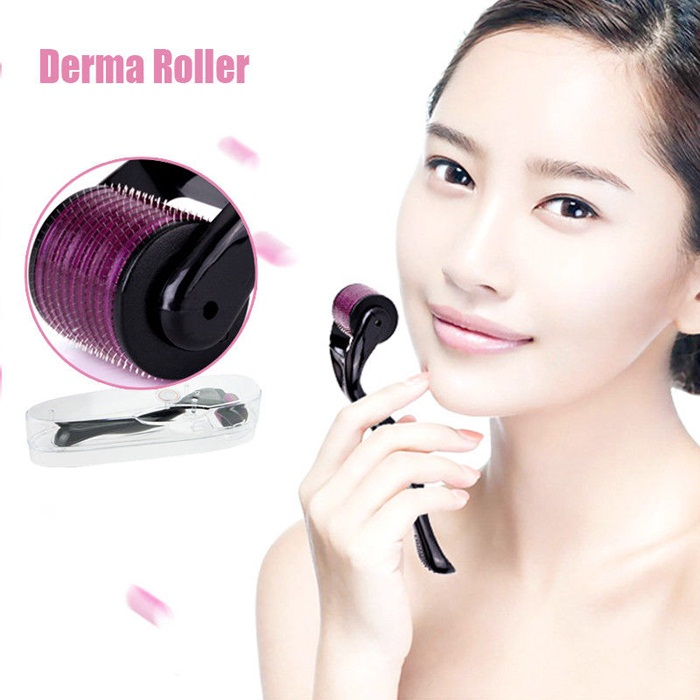 DRS Dermaroller for Skin Care Derma Roller system For Whole Body & Hairs. Derma Roller System is a scientific and all-inclusive device with multiple sizes and exchangeable heads with different needle count and sizes to use on face, neck, eyes and body. It works by prickling the skin and tricking it to renew skin cells by repairing itself which results in new collagen production. It is known to help with acne scars, spot marks, scar removal, stretch marks, cellulite, wrinkles, and hair loss and skin regeneration for more elastic skin. Key Features 1. Works on the stimulation of new collagen fibers as well as other vital skin cells 2. It doesn't harm or damage the epidermis 3. After treatment for Stretch Marks, Acne Scars Wrinkles etc, the skin becomes thicker and tighter Elasticity and bounce is restored and you a left with a healthy and youthful appearance 4. The Roller can be used to treat many skin related issues. 5. The one thing which most of them have in common, is a lack of collagen in the skin. Functions 1. Anti Aging 2. Fine Lines and Wrinkles Reduction 3. Stretch Mark Removal 4. Scar Treatment 5. Acne Scar Removal. Hair Regrowth* Why you choice DRS dermaroller kit? 1. Material of handle is PC + ABS + Medical Stainless. 2. Equipped soft silicone facial cleaning brush, use for face cleaning. 3. 12/300/720/1200 needles use for eyes, face, body and park of the area care 4. Self-contained disinfecting zone 5. Handle color available white&grey How to clean derma roller: 1. Before and after the skin needling treatment, please disinfect the dermaroller. 2. First pour some at least 75% alcohol in the dermaroller storage container or some other clean cup. The derma roller head should be all covered with the alcohol. Leave the roller in there for a while. Then, take it out, run hot water over it and allow the derma roller to air dry on paper towel. 3. After cleaning your dermaroller place it to storage box or container that is provided with the dermaroller. 4. You should do this after every skin needling session to disinfect your derma roller. Never place your dermaroller in boiling water or in an auto-calve as this may permanently damage the needles. IMPORTANT? Please See the size chart before purchase dermaroller 540needles 540 Needles .20 MM 540 Needles .25 MM 540 Needles .50 MM 540 Needles .75 MM 540 Needles 1.00 MM 540 Needles 1.50 MM 540 Needles 2.00 MM 540 Needles 2.50 MM 540 Needles 3.00 MM