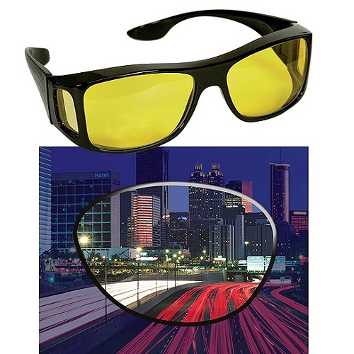 HD Night Vision Wraparounds Glasses HD Night Vision Wraparounds Glasses. Driving at night is very risky and dangerous. It is a well know fact that majority of the accidents happens in night time. People usually hesitate to drive at night. At night time it is almost impossible to see with clarity because of the glare. In winters, fog adds more trouble, and ite more difficult to see at a distance. Because of these problems elderly people and people with poor eyesight hesitate to drive at night. But not anymore, sobizoe up with an amazing solution to this problem. Our hd vision sunglasses improve clarity and reduces glare. They are specially designed to see clearly while driving. A person can easily see crystal clear with hd vision sunglasses. KEY FEATURES Hd wear over sunglasses also have the extra special feature of periphery protection which blocks light from all directions, and keeps your eyes protected no matter where you go! Durable design: our fit over sunglasses are created from a superior plastic material which is resistant to scratching, breaking, and bending! be as active as you like and never worry about destroying our durable wraparound sunglasses camera glasses! Let you see with enhanced color and clarity just like high definition tv's and at the fraction of a price of designer glasses. Benevolently Tip : If it's not too much trouble be reminded that due lighting impacts, screen's splendor/differentiate settings and so on, there could be some slight contrasts in the shading tone of the site's photograph and the genuine thing. Thing Measure by hand, it could be 0.5-1cm extraordinary. trust you can understanding, will be trulyvalued IMPORTANT UV 400 plastic lenses for protection against UVA & UV B ray. Vast range of durable quality sunglass, best for daily use eyewear. These are ideal driving glasses. Stylish & latest goggles. Ideal for Men, Women & teenage boys & girls