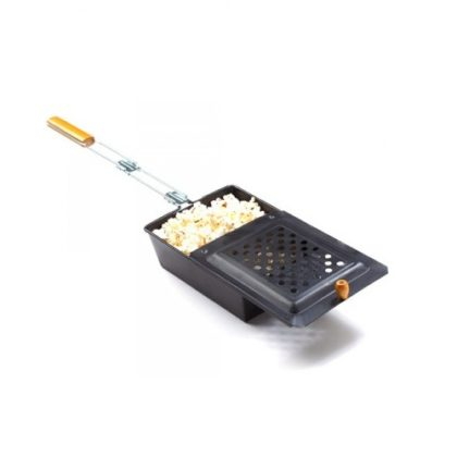 Non-Stick Campfire Popcorn Popper Non-Stick Campfire Popcorn Popper.Enjoy a soft campfire with popcorn popper outdoors. On wood fire, charcoal, or gas grill, it quickly makes 3 quarts of popcorn in just 4-5 minutes. The existing steam slots completely allow the moisture to escape during the popping of the booster and the booster batch at a time. Long handle with solid grip keeps your hands comfortably away from work. The two-part lateral nut system ensures fast and easy assembly, while non-stick coating and hinge cover make cleaning perfectly convenient – simply wipe with paper towels. Light weight design and built-in self-storage handle makes it easy.Buy best kitchen tools and accessoriespopcorn maker in pakistan from our site www.vitalbrands.pk KEY FEATURES 1- This outdoor popcorn popper's classic design makes great tasting popcorn or roasted chestnuts every time 2- Use over a campfire or fireplace 3- The sliding lid is easy to open and the space-saving handle stores inside the corn popper when not in use 4- Wooden grip keeps handle cool and comfortable 5- Camping popcorn popper cleans up easily with the non-stick surface 6- No need for oil 7- Easy to use, slide the lip open, throw in some kernels, slide the lid back into place and hold it over the fire 8- Fire pit popcorn popper comes with cool-touch wooden handle for added safety 9- Cooks up to 2 quarts. of popcorn at a time; Intended for outdoor use SPECIFICATION Made of steel with non-stick coating • For outdoor use only • 2 quart capacity • 7″ wide x 3″ deep x 28″ long • Extended, stay cool wood handle Benevolently Tip : If it's not too much trouble be reminded that due lighting impacts, screen's splendor/differentiate settings and so on, there could be some slight contrasts in the shading tone of the site's photograph and the genuine thing.Thing Measure by hand, it could be 0.5-1cm extraordinary. trust you can understanding, will be trulyvalued.