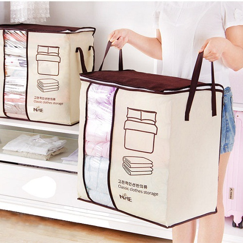 Folding Closet Pillow Quilt Blanket Bedding Clothes Storage Bag Folding Closet Pillow Quilt Blanket Bedding Clothes Storage Bag.2018 new Non-woven Portable Clothes Storage Bag Organizer 45.5*51*29cm Folding Closet Organizer For Pillow Quilt Blanket Bedding KEY FEATURES 1. The use of high-quality non-woven material, soft and breathable, is your season for a good helper quilt. Increase the double handle to facilitate the extraction, all kinds of clothing, bedding can be stored. 2. Widening large, can be installed three-bed quilt, transparent window design, large openings, easy to pick up. 3. Can be hand design, both sides handle design, easy to move, double zipper seal, the use of more easily.