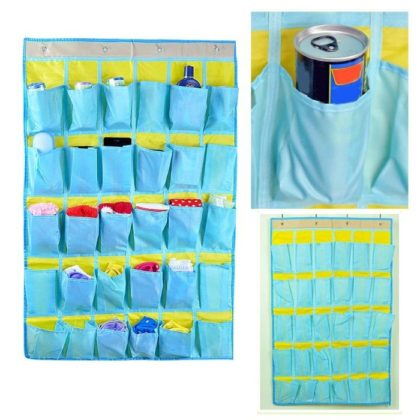 Wall Door Closet Organizer 30 Pockets Hanging Storage Bag Wall Door Closet Organizer 30 Pockets Hanging Storage Bag.Home Tidy Socks Scarf Gloves Wall Door Closet Organizer 30 Pockets Hanging Storage Bag Non Woven Pouch Multi functional Holder. KEY FEATURES   This home organizer bag with 30. is a great help for you. 2. Ideally for holding your small pieces socks, scarf, gloves, tools, etc. 3. It is multi function to use, help to save space and easy to find them in daily life. 4. It is also a beautiful decoration for your house. bathroom organizer,storage bag,key holder wall