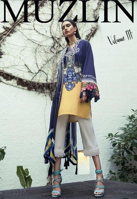 Sana Safinaz viscose LINEN Suit Collection For Women ...