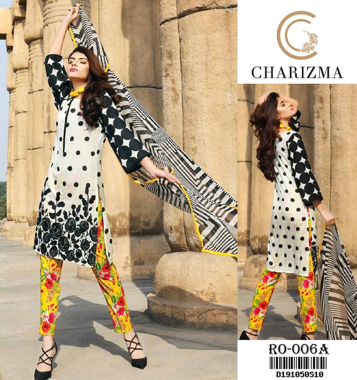c46f503366 Charizma Lawn Suit Collection 2018 For Women | online shopping in ...