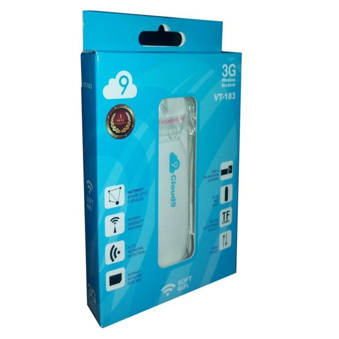 USB cloud 9 3G/4G Sim Support - WiFi Dongle VT-183