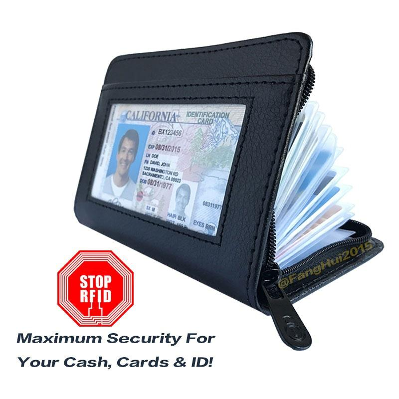 Wallet Lock Business Cards Card Holder