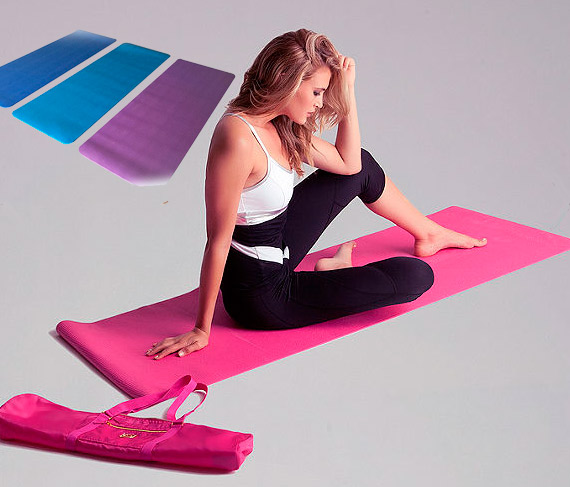 goods crown pink mats compact on sporting shop yoga mat bargains cushion