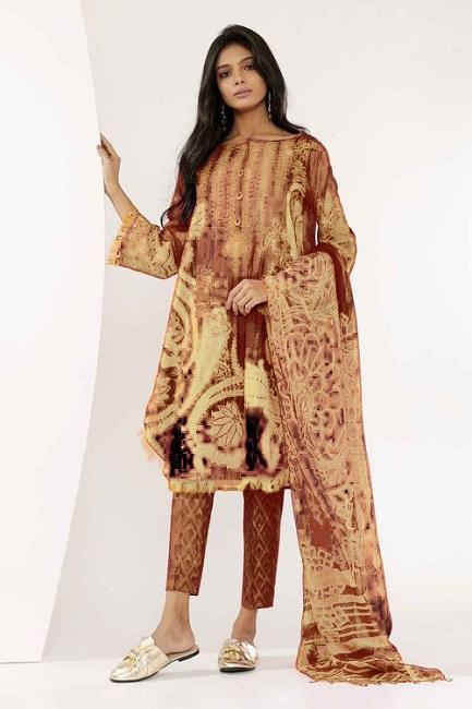a15fdc2202 khaddi Linen Suit Collection 2018 For Women 3pcs | online shopping ...