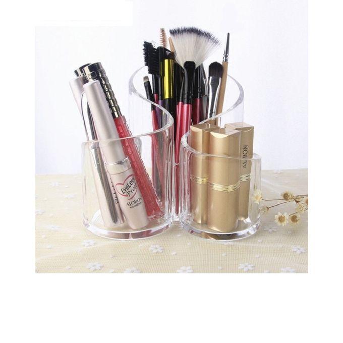 3 Compartment Acrylic Makeup Brush