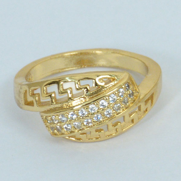 Diamond Layer Gold Plated Ring