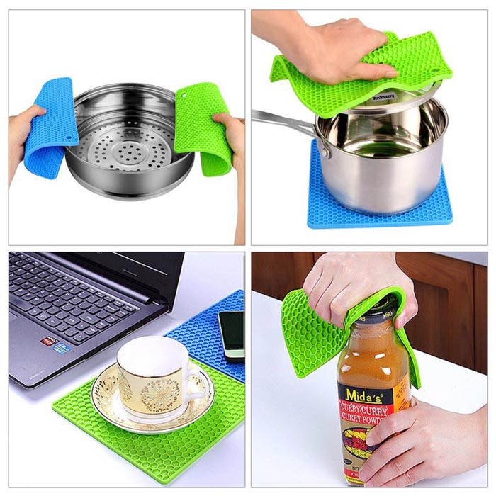 Latest Kitchen Accessories: Multipurpose Silicone Drying Mat,Pot Holders, Jar Openers