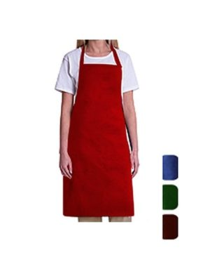 """Adjustable Kitchen Chef Apron for Cooking, Baking, Crafting, BBQ Adjustable Kitchen Chef Apron for Cooking, Baking, Crafting, Gardening, BBQ. 100% Brand new and high quality apron. Can well protect your clothes, arms and head from getting dirty. Wear bib apron is perfect for all kinds of work and is ideal for home or restaurant kitchen, garden, or craft table use; no pocket on bib apron is ideal for logo printing, suitable for kitchen, cafe, working shop, etc. Simple and practical design, comfortable to wear, and easy to clean.kitchen Apron, Cooking Apron, Chef Aprons, Apron for Women, Apron For Men, Durable, Machine Washable, Comfortable Kitchen Chef Apron ONE SIZE FITS MOST: The apron measure 28 x 35"""", with extra-long strap to warp around neck and waist. EASY CARE LONG-LASTING MATERIAL: 100% Cotton Fabric, Machine Washable. Wash with Cold Water in Gentle Cycle & Tumble Dry Low. Do not bleach them or run them through a hot dryer COMES WITH HUGE POCKET: Perfect to put cooking gadget and coordinate with your kitchen for baking, cooking, serving, crafting and more. PERFECT GIFT WITH CUSTOMIZED LOGO AREA: Huge space for logo printing, monogram and embroidery makes the apron a great gift for birthdays, holidays and housewarming. MORE KITCHEN APRONS OPTIONS - APRON offers delightful Kitchen Linens including dishtowels, dish cloths, aprons, potholders and oven mitts, but for more options search: Aprons or click the link at the top of the page to explore our other collection. KEY FEATURES Made from natural materials and free from harmful chemicals and synthetic materials All edges are professionally hemmed for longetivity A good gift for your wife and mother Also suitable as a work apron for restaurant, hotel ,cafe, shop, etc. Compassionately Tip : It would be ideal if you be reminded that due lighting impacts, screen's shine/differentiate settings and so forth, there could be some slight contrasts in the shading tone of the site's photograph and the real thing.Thing Measu"""