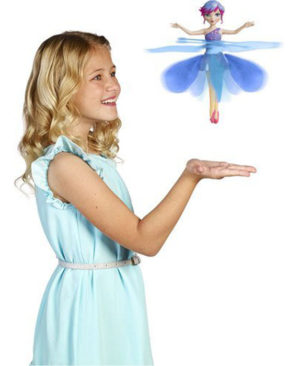 Frozen Flying Fairy for Baby Girls Frozen Flying Fairy for Baby Girls. Frozen's Flying Fairy Doll, The Flying Fairy, also known as Flutter bye, is designed for all young girls who love fairies and all things to be magical! Little girls will think their dreams have come true as they watch a Flying Fairy twirl and dance through the air (these fairies really do fly).  Toy Galaxy introduces a very attractive flying doll. It is based on Disney's famous movie Frozen. Moreover, it does not just appear to be a fairy but it actually levitates like one! With sensors fitted in, it flashes attractive lights. Additionally it comes with a remote controller to produce many different sounds. A perfect choice for your fairy daughters who desire amazing toys! KEY FEATURES Eye catching colors Sensors Remote control Pleasant sounds Suitable for girls from 4 & above