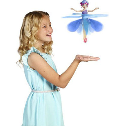 Frozen Flying Fairy for Baby Girls Frozen Flying Fairy for Baby Girls.Frozen's Flying Fairy Doll, The Flying Fairy, also known as Flutter bye, is designed for all young girls who love fairies and all things to be magical! Little girls will think their dreams have come true as they watch a Flying Fairy twirl and dance through the air (these fairies really do fly).Toy Galaxy introduces a very attractive flying doll. It is based on Disney's famous movie Frozen. Moreover, it does not just appear to be a fairy but it actually levitates like one! With sensors fitted in, it flashes attractive lights. Additionally it comes with a remote controller to produce many different sounds. A perfect choice for your fairy daughters who desire amazing toys! KEY FEATURES Eye catching colors Sensors Remote control Pleasant sounds Suitable for girls from 4 & above