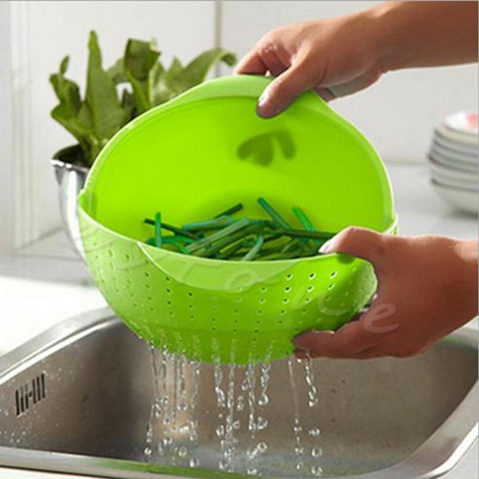 Wash Rice Sieve Vegetable Basin Fruit Bowl Fruit Basket
