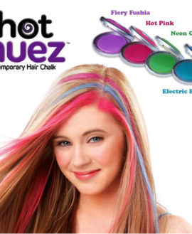 HOT HUEZ TEMPORARY HAIR CHALK It is in the nature of the every woman to look beautiful and attractive all the time. For this reason, if any product compliments the look of women; then she would purchase that product regardless of its price. In order to facilitate such beauty conscious women, Vitalbrands Pakistan has brought a unique beauty product as the Hot Huez. The Hot Huez is basically a set of four temporary hair chalks. This hair chalk creates vibrant and appealing colors in just three easy steps. The four sets of hair chalk include the Electric Blue Shade, Hot Pink Shade, Neon Green shade and Fiery Fuschia Shade. It would give you the same look as if you have dyed your hair in a salon. If you are going to a birthday or wedding party, then you wouldn't find another solution better than the Hot Huez and that's for sure. One of the most attractive and fascinating things about the Vitalbrands Hot Huez is that it is 100% compatible with all colors, styles and types of hair. The Hot Huez is formulated with natural ingredient and it is free from any type of dyes or harmful chemicals, so it causes no harm to the delicate hair or scalp. The best thing about the Vitalbrands Hot Huez is that it gives a temporary look to the user and it is easily washable by shampooing. You just have to choose your desired hues or you can mix all the hues at altogether as per your desire. The Hot Huez is marketed in Pakistan under the umbrella of Vitalbrands Pakistan. You can easily place your order just by logging into the website of Vitalbrands Pakistan or you can just simply dial the number 0336-7772215 to place the order of your favorite product. Additional Specifications of the Vitalbrands Hot Huez: 1.Temporary hair chalks with 4 vibrant and eye-popping colors 2.Instant, fast and easy method 3.No mess of hand hair sprays or dyes 4.Absolutely perfect for almost any occasion or get together 5.Suitable for hair of all types and colors How to Apply the Vitalbrands Hot Huez? The overall application of the Hot Huez is quite simple and easy. You just have to press the chalk and slide it to the required hair strands and that's all. If you want to remove it, then you just need to shampoo your hair. What is in the Box? 4 x Hot Huez Hair Chalk