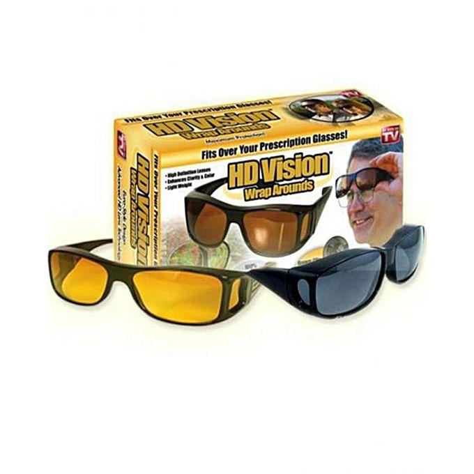 1a1f897cb81a HD Night Vision Wraparounds Glasses – Black   Yellow