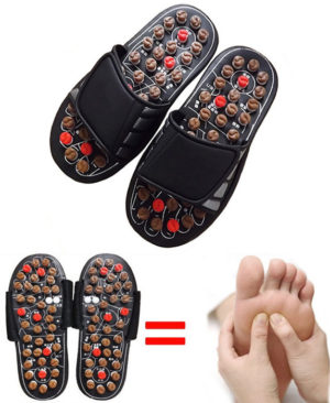 Magic Massgae Slipper in Pakistan Magic Massgae Slipper in Pakistan. Foot health massage slippers male and household cool women's slippers. Foot health massage slippers male and household cool women's slippers Foot health massage slippers male and household cool women's slippers. to keep with human engineering, the massage slippers square measure designed with scientific acu purpose, all seventy eight massage buttons composite a foot type, stimulating foot vital purpose. Buy Original Massage Slippers in Asian Nation They will hurt your feet until you get used to them, thus merely wear them until you are utilized up to 10 minutes. Then you wear them for hours, increasing and down which they work nice if you've got dawned pain and different pain. If you're doing not walk well or steady do not acquire them, as a results of you've got have to be compelled to own a healthy walk to urge results. They work to boot for disease and headaches. Apparently, it's precisely the initial discomfort that signifies merely what proportion you'd like them which areas of the body would like somewhat work. Reduces stress and tension in neck and shoulders; Reflexology /Acupuncture medical aid effortlessly and inexpensively everyday!. Key Choices WATER proof rubberized shoe sole with seventy eight rotating massage acupoint buttons is comfortable and luxury. Flexible exhausting compound rotating massage buttons and martial art chuan Bagua acupoints facilitate stimulate foot vital purpose massage. Adoption of Velcro vogue permits shoe surface to be adjusted optionally, even for high-instep people. Foot massage depends on reflexology. It's good for body circulation and cramps of the legs. Rejuvenate organs and keep them healthy with daily reflexology treatments, whereas you wash the dishes or vacuum the carpet. HOW TO USE Wear slippers terribly very first thing at intervals the morning as you accustom work or different activities. It to boot stimulates the nerve endings and increase blood flo