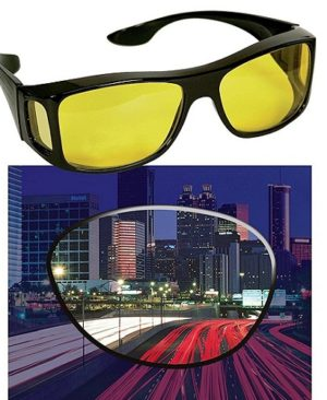 HD Night Vision Wraparounds Glasses HD Night Vision Wraparounds Glasses. Driving at night is very risky and dangerous. It is a well know fact that majority of the accidents happens in night time. People usually hesitate to drive at night. At night time it is almost impossible to see with clarity because of the glare. In winters, fog adds more trouble, and ite more difficult to see at a distance. Because of these problems elderly people and people with poor eyesight hesitate to drive at night. But not anymore, sobizoe up with an amazing solution to this problem. Our hd vision sunglasses improve clarity and reduces glare. They are specially designed to see clearly while driving. A person can easily see crystal clear with hd vision sunglasses. KEY FEATURES Hd wear over sunglasses also have the extra special feature of periphery protection which blocks light from all directions, and keeps your eyes protected no matter where you go! Durable design: our fit over sunglasses are created from a superior plastic material which is resistant to scratching, breaking, and bending! be as active as you like and never worry about destroying our durable wraparound sunglasses camera glasses! Let you see with enhanced color and clarity just like high definition tv's and at the fraction of a price of designer glasses. Benevolently Tip : If it's not too much trouble be reminded that due lighting impacts, screen's splendor/differentiate settings and so on, there could be some slight contrasts in the shading tone of the site's photograph and the genuine thing. Thing Measure by hand, it could be 0.5-1cm extraordinary. trust you can understanding, will be truly valued IMPORTANT UV 400 plastic lenses for protection against UVA & UV B ray. Vast range of durable quality sunglass, best for daily use eyewear. These are ideal driving glasses. Stylish & latest goggles. Ideal for Men, Women & teenage boys & girls