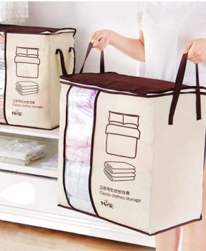 Folding Closet Pillow Quilt Blanket Bedding Clothes Storage Bag Folding Closet Pillow Quilt Blanket Bedding Clothes Storage Bag. 2018 new Non-woven Portable Clothes Storage Bag Organizer 45.5*51*29cm Folding Closet Organizer For Pillow Quilt Blanket Bedding KEY FEATURES 1. The use of high-quality non-woven material, soft and breathable, is your season for a good helper quilt. Increase the double handle to facilitate the extraction, all kinds of clothing, bedding can be stored. 2. Widening large, can be installed three-bed quilt, transparent window design, large openings, easy to pick up. 3. Can be hand design, both sides handle design, easy to move, double zipper seal, the use of more easily.