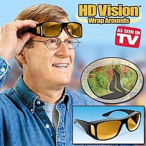 cfec97f0b080 HD Night Vision Wrap Around Glasses