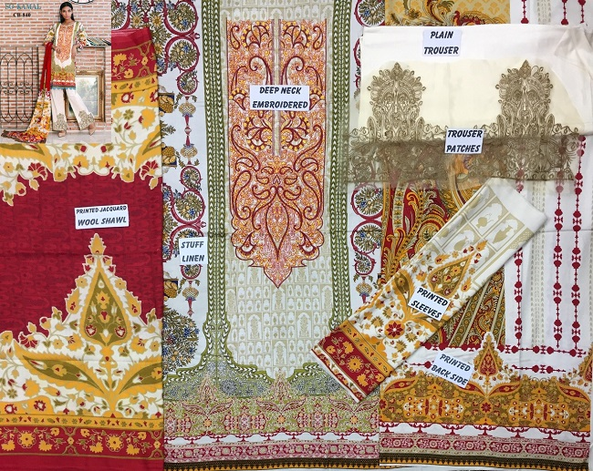 So kamal linen Lawn Suit Collection 2018 For Women – 3Pcs (4)