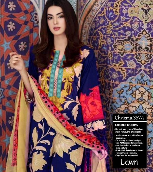 44b1eb1e7d Charizma Naranji Lawn 2018 with price | online shopping in pakistan