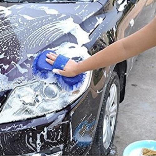 Car Washing Sponge With Microfiber Washer Towel Duster Bike Vehicle