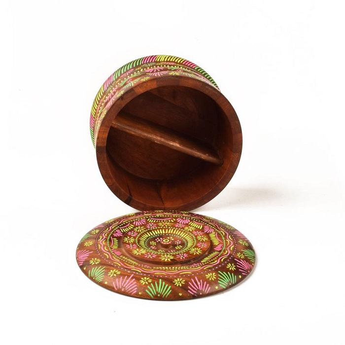 Wooden Round Shaped Ebeleben Multani Box (5)
