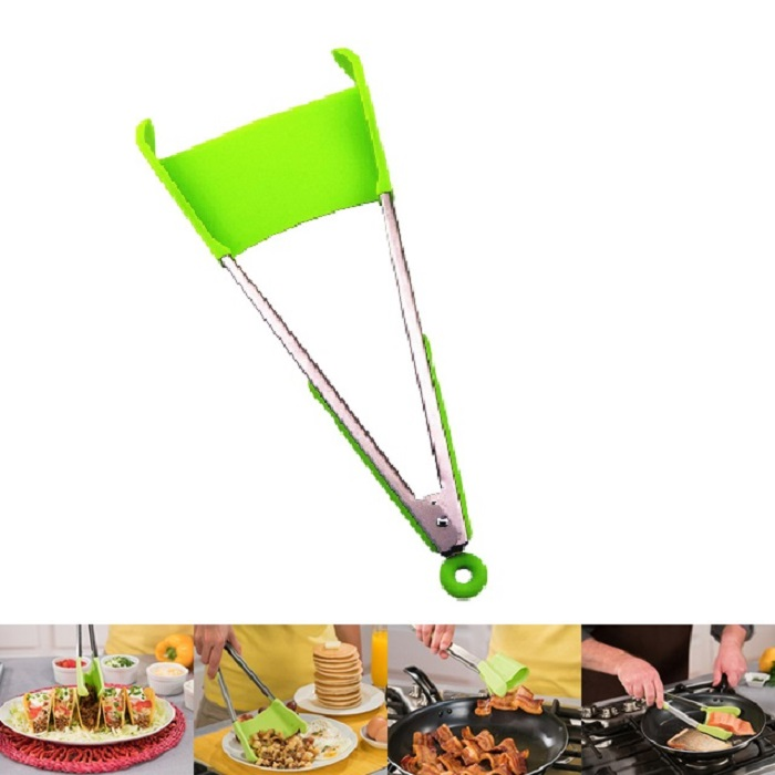 Clever-2-in-1-Kitchen-Spatula-Tongs-Non-stick-Heat-Resistant