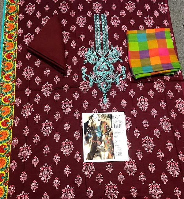 Maria b khaddar with wool shawl 2018 (2)